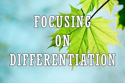 Focus on Your Points of Differentiation